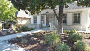 Drought tolerant plants and landscaping at Carmel & Naccasha's Paso Robles office.
