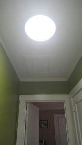 Solar tubes installed for natural lighting.