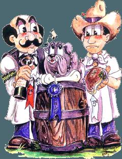 PR rotary wine mascots