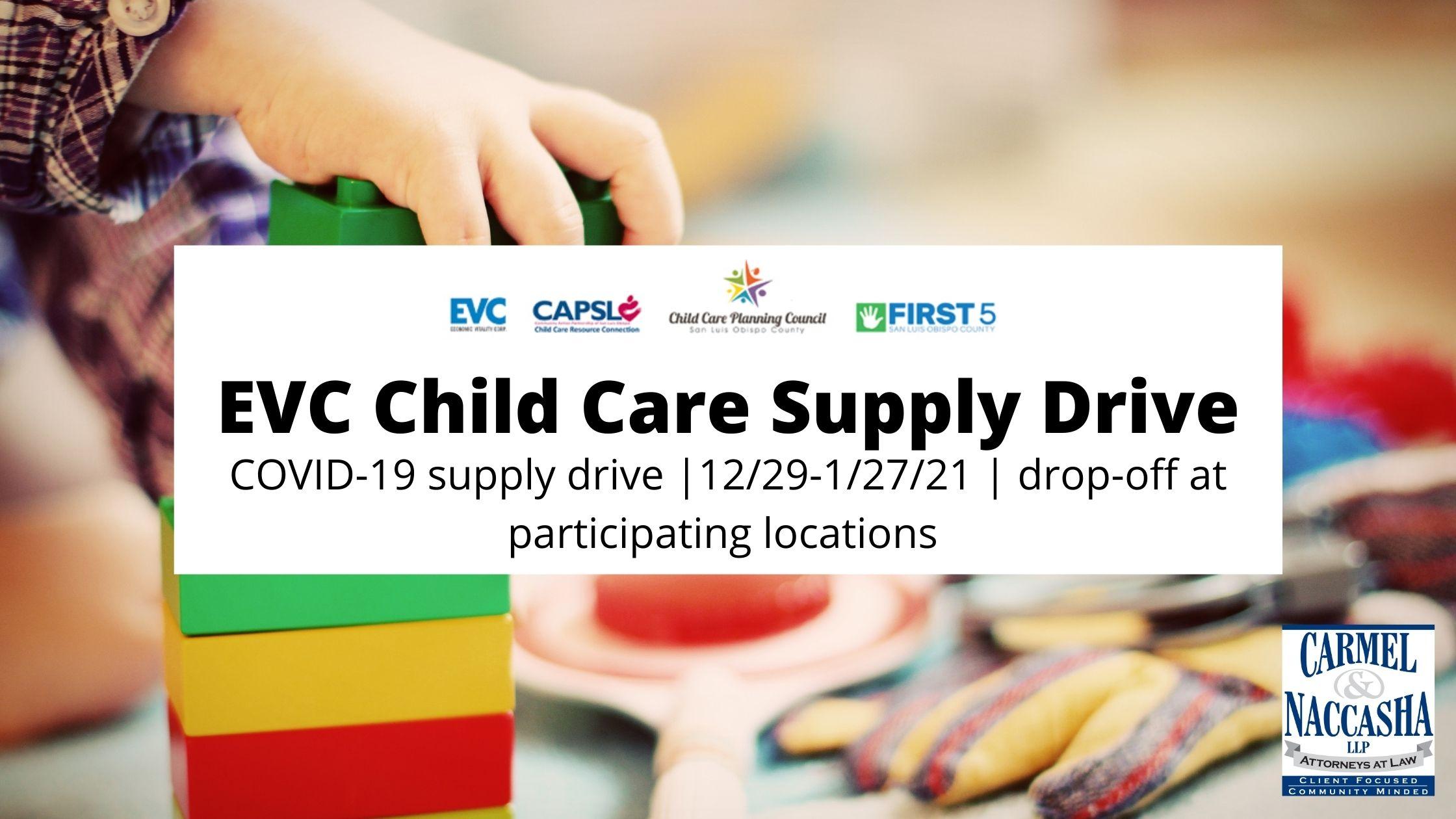 EVC Child Care Supply Drive