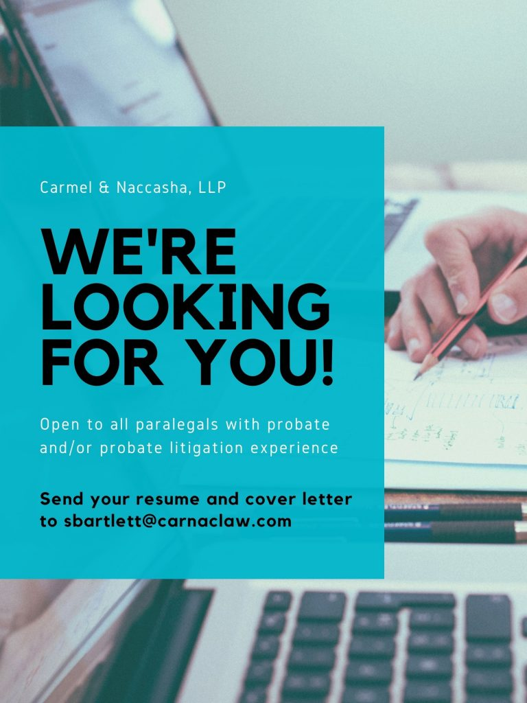 hiring paralegal