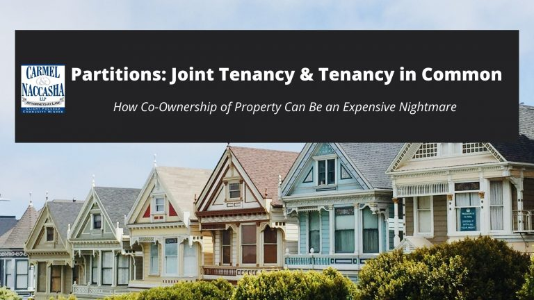 Joint tenancy and tenancy in common