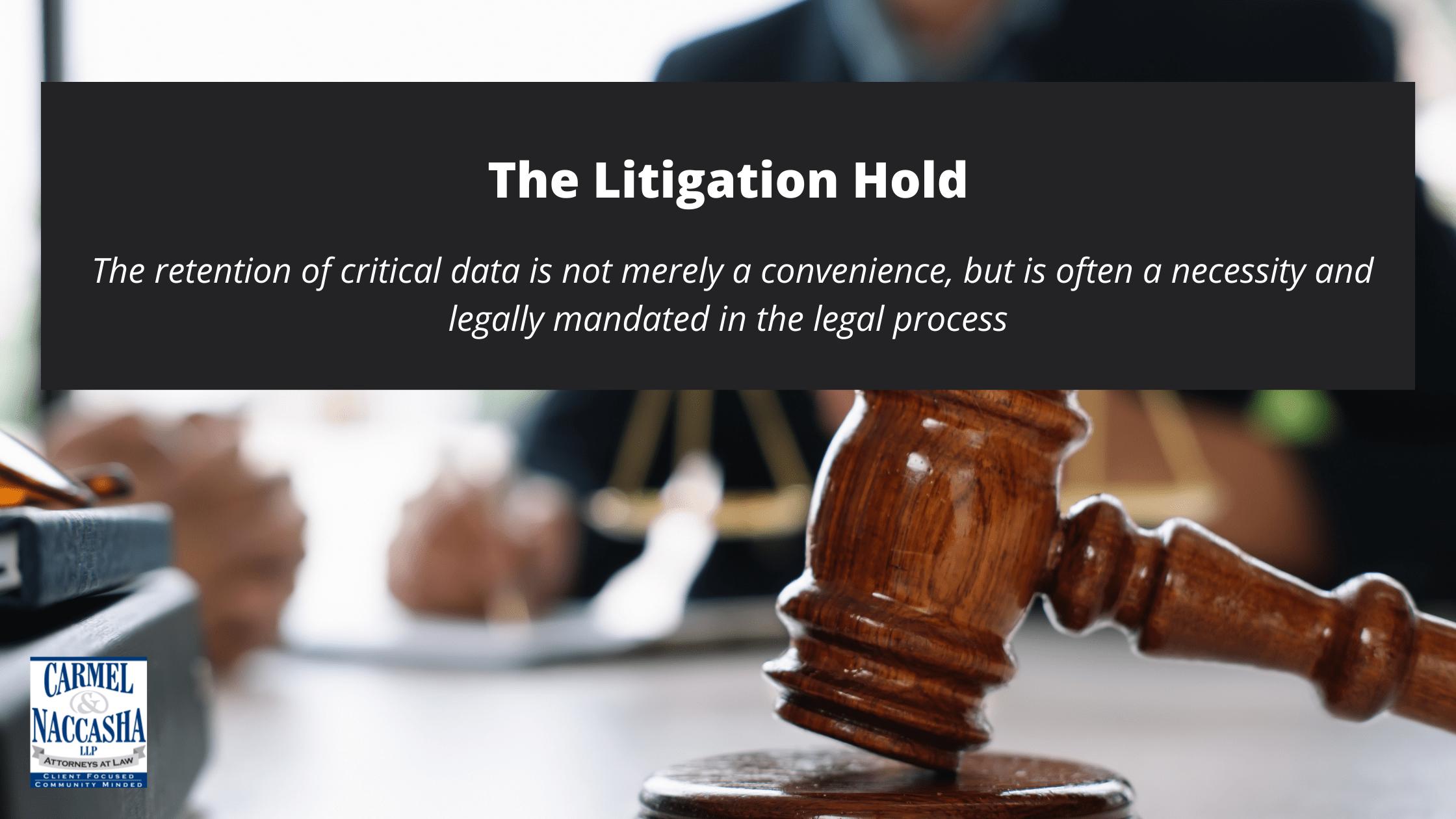 The Litigation Hold